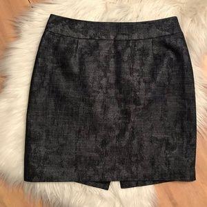 Nordstrom Halogen Navy/Gray Pencil Skirt Size 6